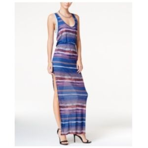 New Layered Striped Maxi Dress by Chelsea Sky